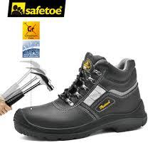 safetoe brand safety shoes work boots men steel toe cap light