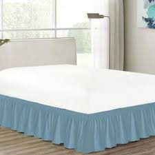 Wrap Around Bed Skirts Other Wrap Around Bed Skirt Dust Ruffle