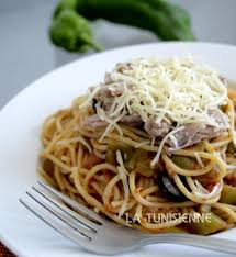 cuisine tunisienne pate au thon spaghetti au thon