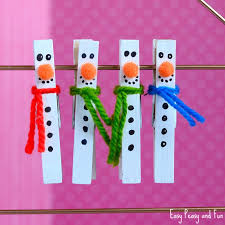 clothespin snowman craft for to make easy peasy and