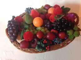 fruit bouquet san diego artificial fruit basket mixed lot 40 pieces unbranded