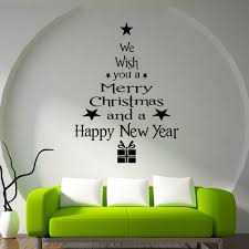 christmas tree letters stick wall art decal and mural point sticker