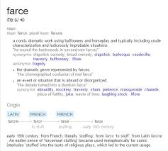 what does the word farce and where does it come from