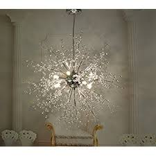 Light Fixtures Chandeliers Gdns Chandeliers Firework Led Light Stainless Steel Crystal