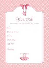 free ballerina baby shower invitations templates invitations