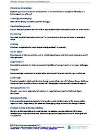 Resume Core Competencies List Sales Manager Competencies Checklist Sales Performance International