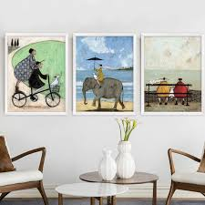 Nordic Home Decor Nordic Home Decor Abstract Happy Family Canvas Painting