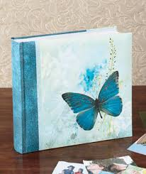 photo albums with memo area blue butterfly serenity 160 photo album with memo area books other