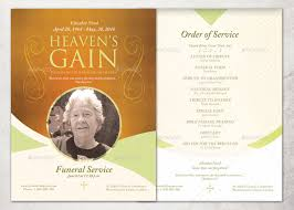 funeral program template heaven s gain single sheet funeral program template inspiks market