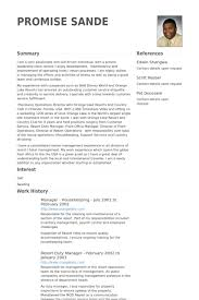 american resume sles for hotel house keeping housekeeping resume sles visualcv resume sles database