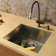 square kitchen sink 20 au courant stainless steel sinks abode