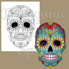 sugar skulls coloring pages day of the dead skull halloween