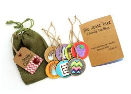 complete tree ornament set rustic wood vellum stickers