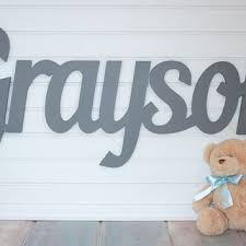 baby nursery decor letter up green solid baby name