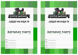 minecraft birthday invitations free printable minecraft birthday invitations free printable
