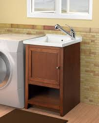 Laundry Room Sinks With Cabinet Westmount Laundry Vanity With Vitreous China Sink Light Walnut