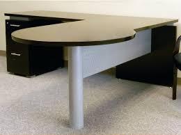 Large Wooden Desk L Shaped Grey Wooden Desk With Dark Brown Tabletop Elegant Homes