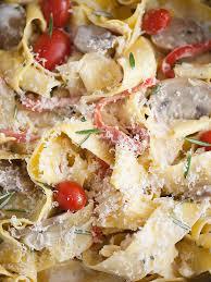 Pasta Sausage Sausage And Marsala Pappardelle Pasta Foodiecrush