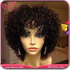 weave on short afro hair full density curly afro wig 100 peruvian human hair kinky curly