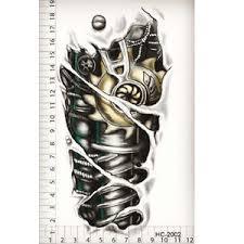 3d stylish robot arm tattoo stickers tattoo temporary fashion