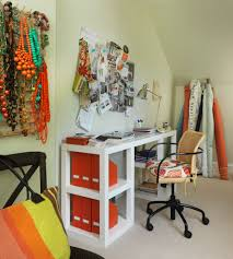 diy desk ideas home office eclectic with white bamboo chair white