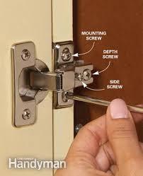 Adjusting Cabinet Doors Kitchen Cabinet Hinge Jonlou Home