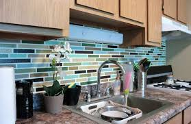 kitchen backsplash how to install peel and stick mosaic tile
