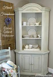 farmhouse corner cabinet makeover h20bungalow