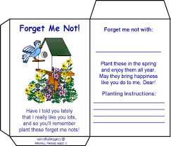 forget me not seed packets forget me not seed packet garden or craft project