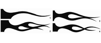 nub signature series crossfire flame stencil set airbrushes com