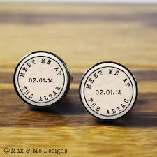 personalized wedding cufflinks meet me at the altar personalized wedding cufflinks a
