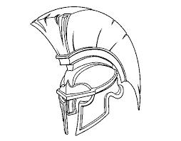 Coloriage Casque de Guerrier romain dessin gratuit à imprimer