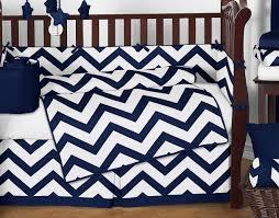 Chevron Boy Crib Bedding Navy And White Chevron Zigzag Baby Bedding 9pc Crib Set By Sweet