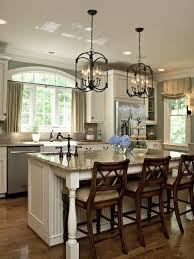 glass hanging pendants over island for gray color kitchen home