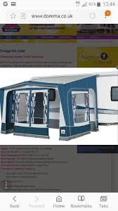 Caravan Porch Awning Sale Dorema Caravan Porch Awning For Sale Including Curtains Size 250