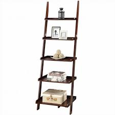 furniture large ladder bookcase black bookcase with ladder