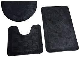 interior bath mat sets brown 3 piece bath rug set pattern open interior bathroom mat