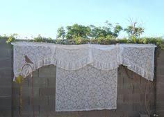 White Lace Valance Curtains Vintage Cream Lace Valance Curtain Panel 46