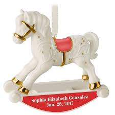 First Christmas Personalized Ornaments - baby u0027s first christmas rocking horse personalized ornament