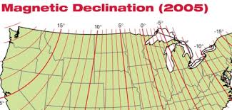 magnetic declination map finding true south the easy way home power magazine