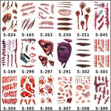 Toxic Halloween Costumes Wholesale Tattoos Horror Temporary Wholesale Tattoos