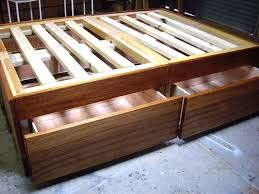 queen size platform bed with drawers large of style beds pleasing