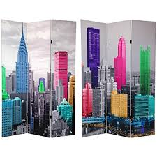 New York Room Divider Furniture 6 Ft Colorful New York