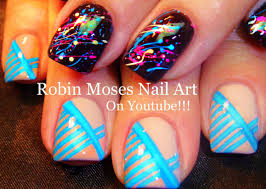 fun nails 2 diy nail art tutorials splatter paint u0026 stripes