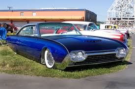 lowered muscle cars radical custom 1962 thunderbird with a 1961 starliner roof