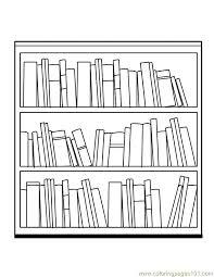 bookcase clipart black white pencil color bookcase