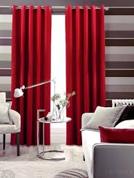 Living Room Curtain Ideas Modern Put Awesome Red Curtain To Beautify Your Living Room Interior