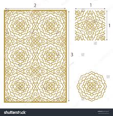 vector laser cut panel seamless pattern stock vector 609199277