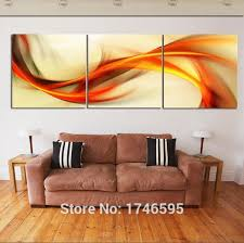 HD Print 3 pieces canvas abstract orange Wall Art Picture print