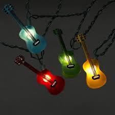 Novelty Patio Lights Set Of 10 Multi Color Guitar Patio Novelty Lights